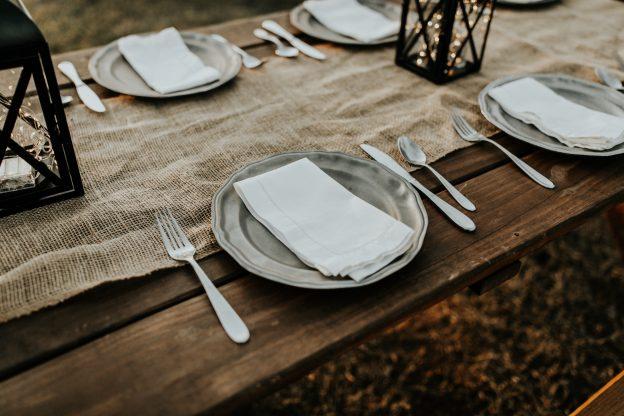 Signaler typen af fest med bordpynten